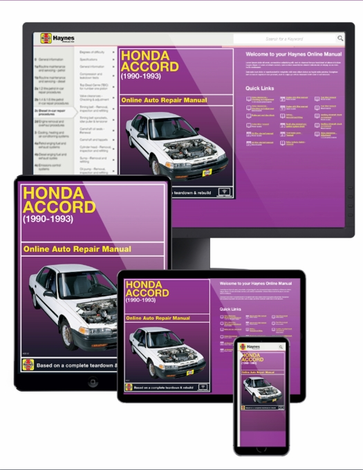 Honda Accord Online Service Manual, 1990-1993