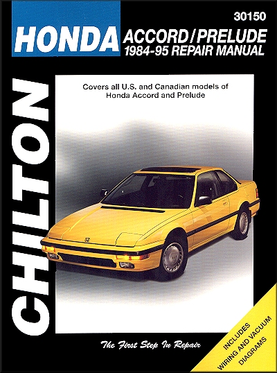 Honda Accord, Prelude Repair Manual 1984-1995