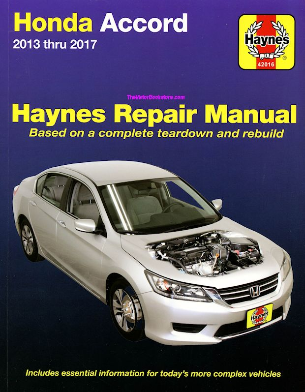 2013 2017 honda accord repair manual haynes 42016 for Honda car repair