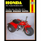 Honda ATC70, 90, 110, 185, 200 ATV Repair Manual 1971-on