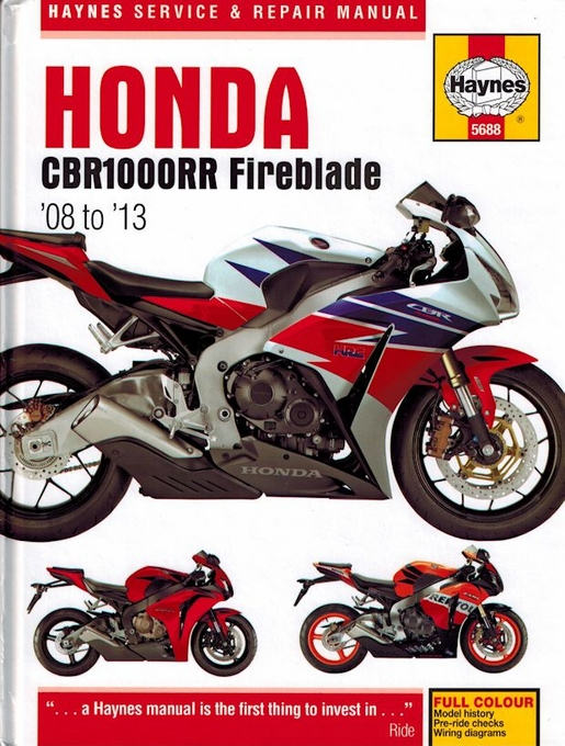 Honda CBR1000RR Fireblade Repair Manual: 2008-2013