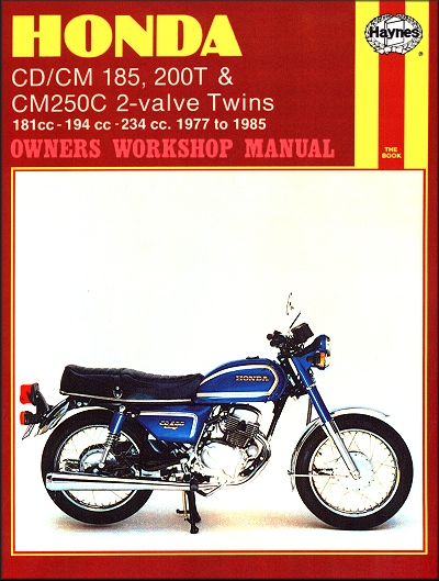 Honda CD/CM185/200, CM250 Benly Repair Manual 1977-1985