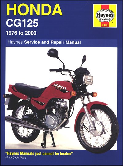 Honda CG125 Repair Manual 1976-2000