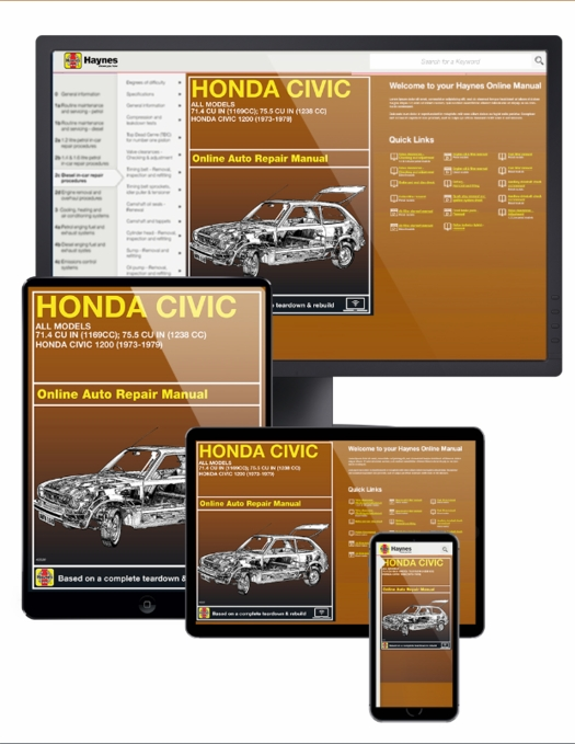 Honda Civic 1200 Online Service Manual, 1973-1979