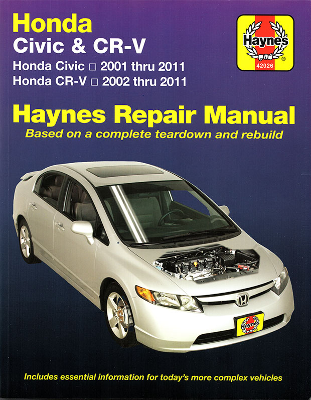 Honda Civic Cr V Repair Manual 2001 2011 Haynes 42026