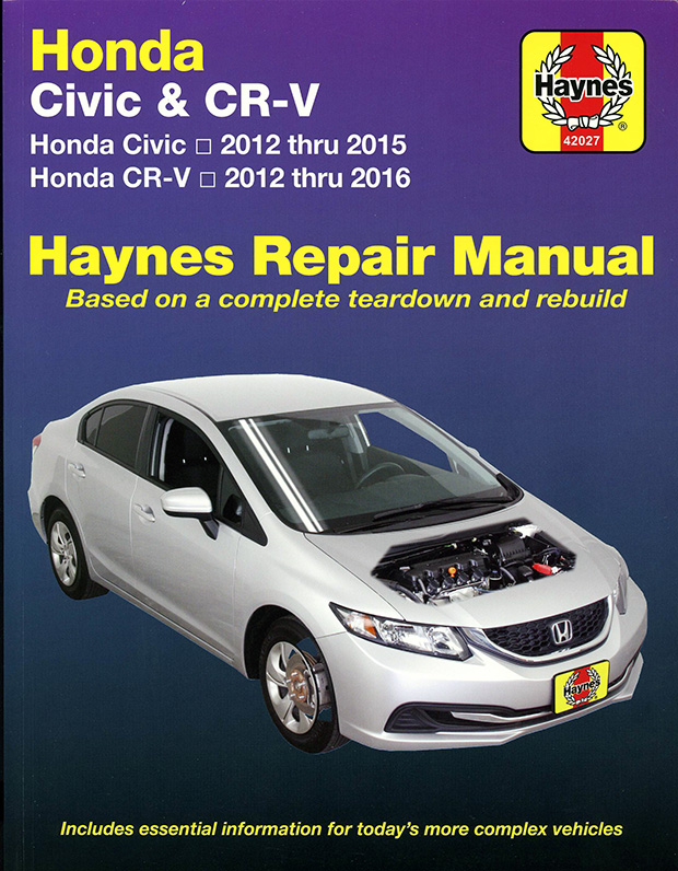 honda civic cr v repair manual by haynes 2012 2014 42027. Black Bedroom Furniture Sets. Home Design Ideas