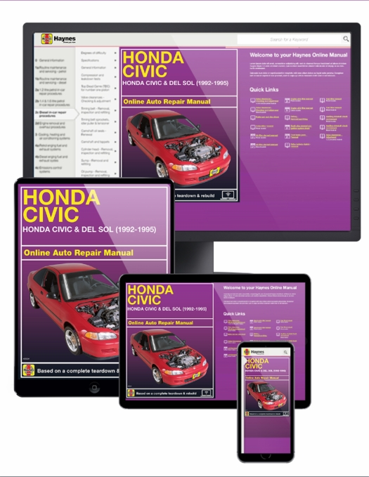 Honda Civic/Del Sol Online Service Manual, 1992-1995