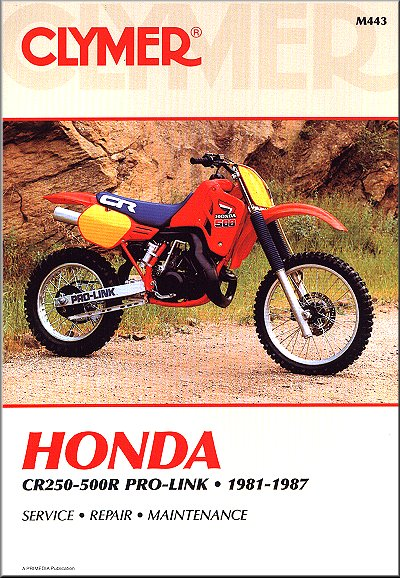 honda cr250r cr450r cr480r cr500r 1981 1987 repair manual rh themotorbookstore com 1989 CR500 1980 CR500