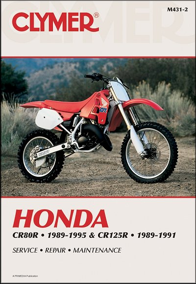 honda cr80r cr125r repair manual 1989 1995 clymer m431 2 rh themotorbookstore com 1983 Honda CR125 1988 honda cr125r service manual