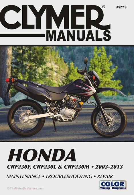 honda crf230f l m repair manual 2003 2013 clymer m223 rh themotorbookstore com honda crf230l wiring diagram Basic Electrical Wiring Diagrams
