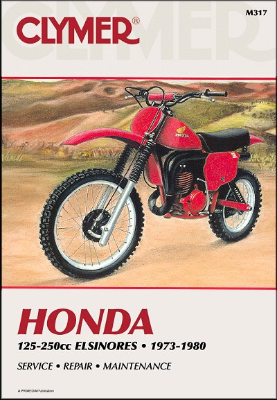 honda elsinore 125 250cc repair manual 1973 1980 by clymer m317 rh themotorbookstore com honda cr 250 parts manual honda cr250 repair manual