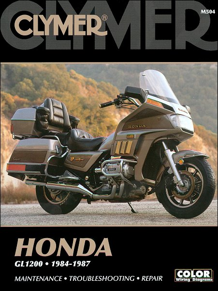 honda goldwing gl1200 repair manual 1984 1987 clymer m504 rh themotorbookstore com 1984 honda goldwing owners manual 1984 honda gl1200 owners manual