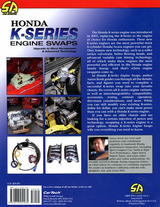 Honda K-Series Engine Swaps: Performance How-To Book