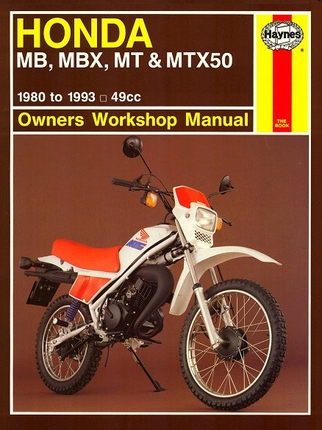 honda mb50 mbx50 mt50 mtx50 repair manual 1980 1993. Black Bedroom Furniture Sets. Home Design Ideas