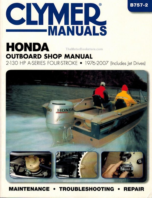 Honda Outboard Repair Manual 2-130 HP Four-Stroke 1976-2007 on