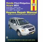 Honda Ridgeline 2006-2014, Pilot 2003-2008, Acura MDX 2001-2007 Repair Manual