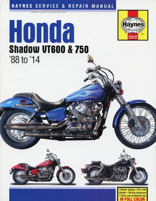 honda shadow vt600 vt750 repair manual 1988 2014 haynes 2312 rh themotorbookstore com 1985 honda shadow 750 service manual honda shadow spirit 750 service manual