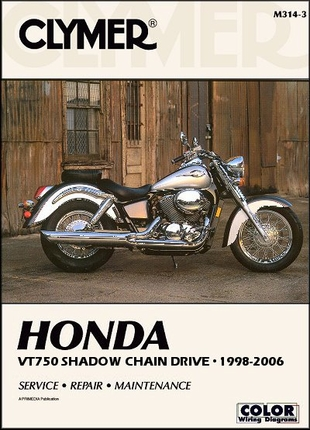 Honda Shadow VT750, ACE, Spirit, ACE Deluxe Repair Manual 1998-2006