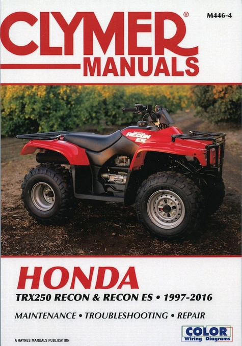 honda trx250 recon es repair manual 1997 2016 clymer m446 4 rh themotorbookstore com Honda Motorcycle Wiring Color Codes 2012 Honda Civic Transmission Wire Diagram