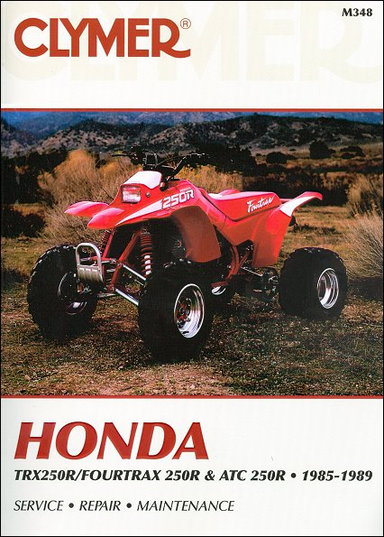 Honda Trx250r Fourtrax 250r Atc250r Repair Manual 1985 1989