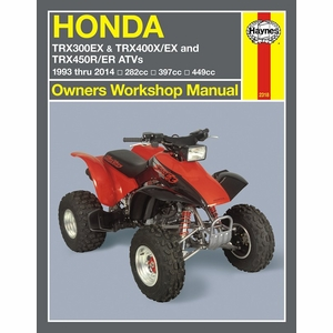 Honda TRX300, 400EX, 450R, 450ER Repair Manual 1993-2014