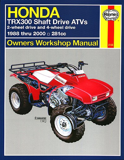 honda trx300 fourtrax  trx300fw repair manual 1988