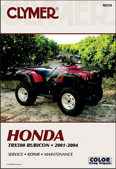 Honda TRX500 Rubicon Repair Manual 2001-2004 - Clymer