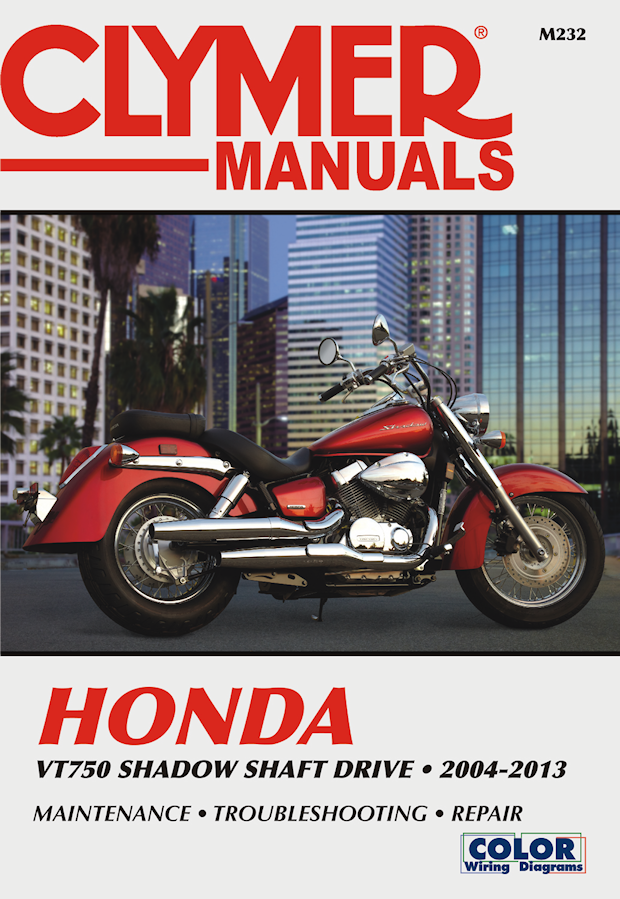 [ZTBE_9966]  Honda VT750 Shadow Repair Manual 2004-2013 | Clymer M232 | Wiring Diagrams For 750 Honda Shadow 2012 |  | The Motor Bookstore