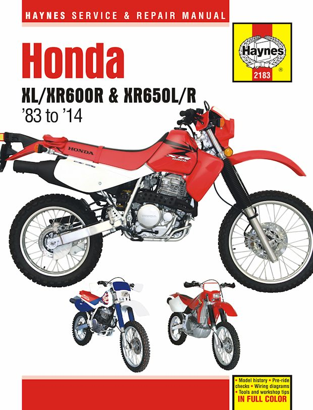 honda xl600r, xr600r, xr650l, xl650r repair manual 1983-2014