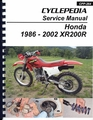 Honda XR200R Service Manual: 1986-2002