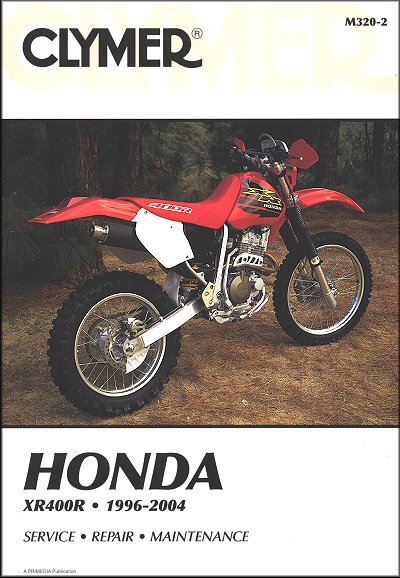 honda xr400r repair and service manual 1996 2004 clymer m320 2 rh themotorbookstore com Used Honda 70 Dirt Bikes 2002 Honda XR70 Oil