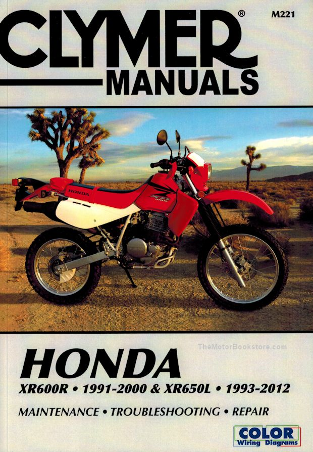 honda xr600r xr650l rfvc singles repair manual 1991 2012 clymer rh themotorbookstore com 2001 XR200 Wiring-Diagram 2000 XR200 Wiring-Diagram