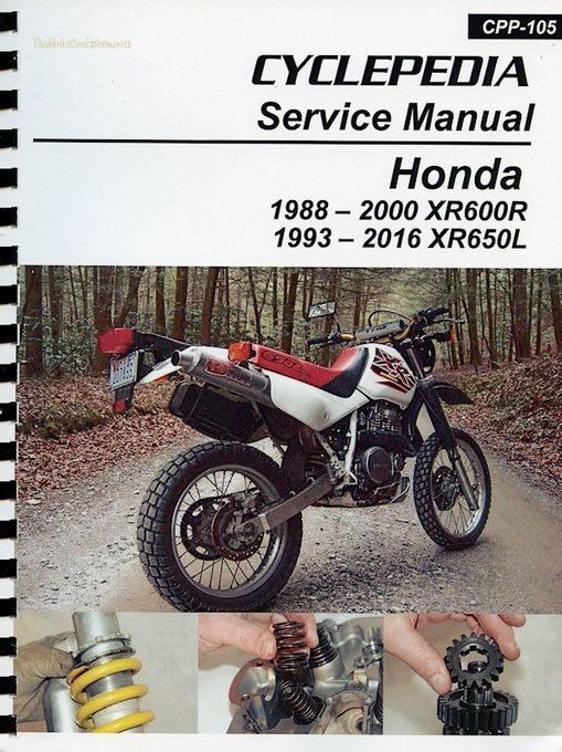 honda xr600r xr650l service manual 1988 2016 rh themotorbookstore com Honda XR650L Engine Disassembly 1986 Honda XR600R Wiring-Diagram