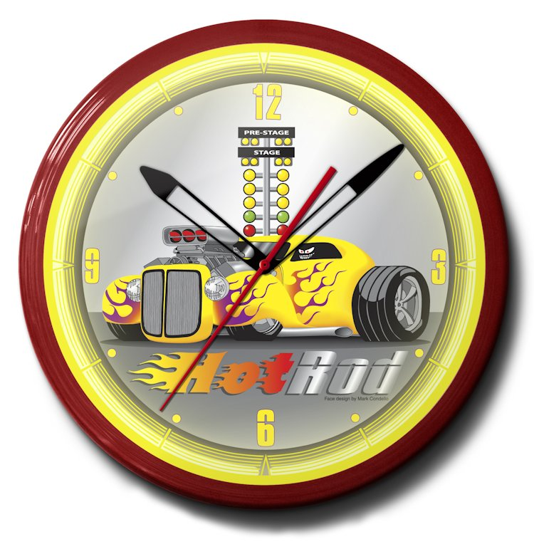 Hot Rod Neon Clocks: Bitchin Themes, High Quality, 20 Inch