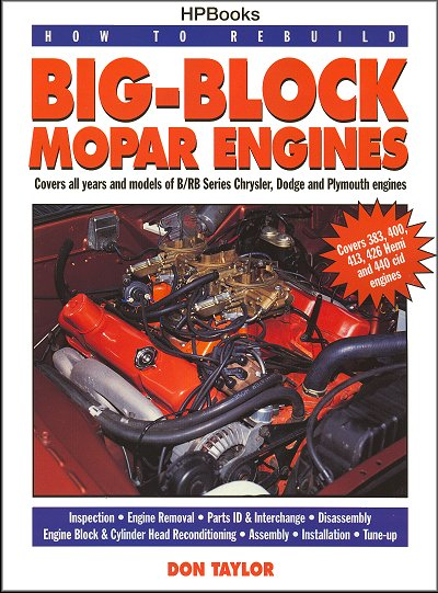 How to Rebuild Big-Block Mopar Engines: 383, 400, 426 Hemi, 440The Motor Bookstore