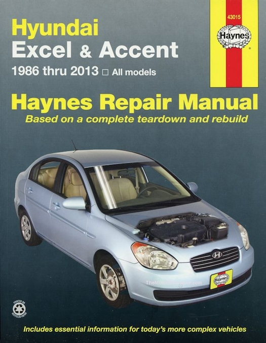 hyundai excel hyundai accent repair manual 1986 2013 haynes rh themotorbookstore com Hyundai Body Parts Diagram 2002 Hyundai Sonata Parts Diagram