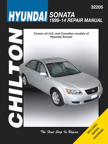hyundai sonata repair service manual 1999 2014 chilton 32205 rh themotorbookstore com 2006 Sonata 2005 hyundai sonata shop manual