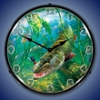 In The Thick of It Muskie Wall Clock, LED Lighted