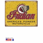 """Indian - America's Pioneer Motorcycle"" Tin Sign"