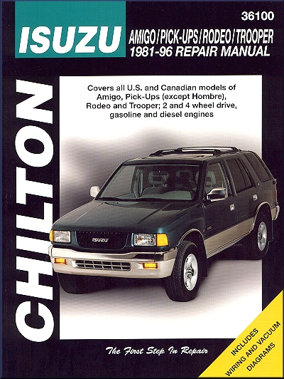 isuzu rodeo amigo trooper pickup repair manual 1981 1996 rh themotorbookstore com Holden Rodeo Ute Done Up Holden Rodeo