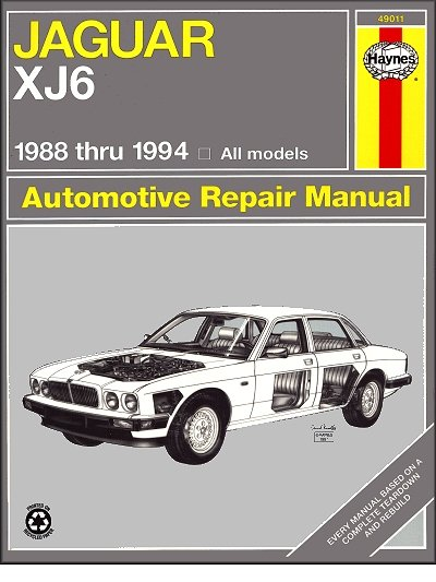 jaguar xj6 vanden plas sovereign repair shop manual 1988 1994 rh themotorbookstore com 1994 Jaguar XJ6 Manual jaguar repair manuals online