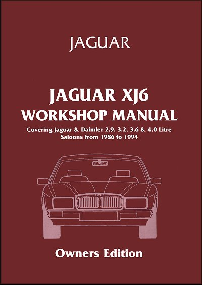 jaguar xj6 workshop manual 2 9l 3 2l 3 6l 4 0l 1986 1994 rh themotorbookstore com 1996 Jaguar XJ6 1998 Jaguar XJ6