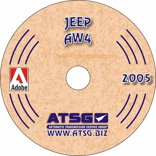 Jeep Aw4 30 40le Transmission Rebuild Manual On Cd 1987 2001