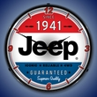 Jeep since 1941 Wall Clock, LED Lighted