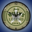 Jeep the Legend Wall Clock, LED Lighted
