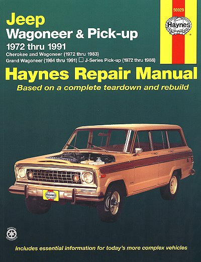 jeep grand wagoneer cherokee j series repair manual 1972 1991 rh themotorbookstore com 1992 Jeep Wagoneer 1989 Jeep Wagoneer