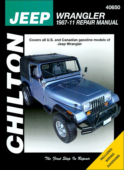 jeep wrangler repair manual by chilton 1987 2011 rh themotorbookstore com 2015 Jeep 3.6 Cylinder Diagram Jeep Repair Guide