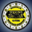 Jenkins Wall Clock, LED Lighted: Racing Theme
