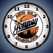 Jenny Gasoline Wall Clock, LED Lighted: Gas / Oil Theme