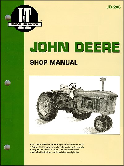 john deere tractor repair manual by clymerjohn deere tractor repair manual  6030, 3010, 3020
